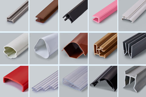 Plastic profile extrusions
